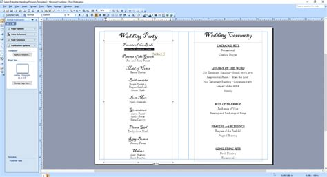 free printable wedding program templates word wedding program