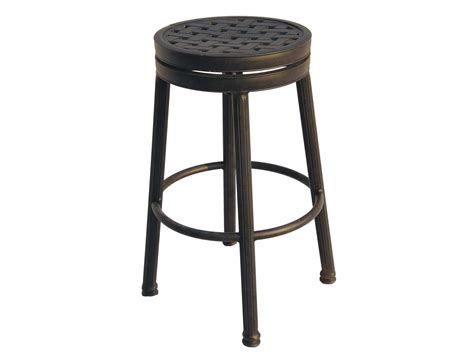 cast aluminum bar stools darlee outdoor living standard backless cast aluminum antique bronze round swivel bar stool