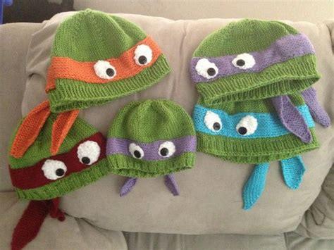 knitting pattern for ninja turtles jumper hand knit teenage mutant ninja turtle hat with ribbed or