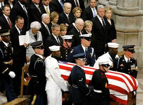 reagan s president reagan s funeral service is held at the national