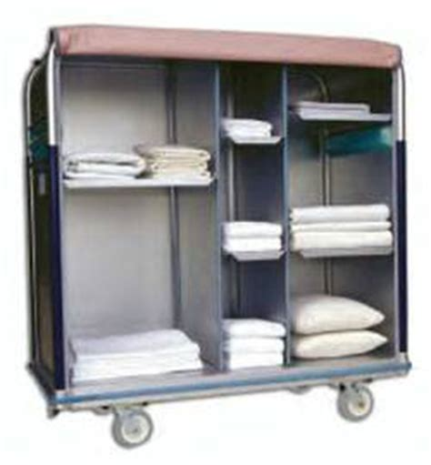 Image Gallery Linen Cart Multi Compartment Laundry