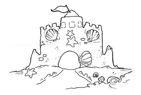 coloring page of sand castle sandcastle coloring download sandcastle coloring