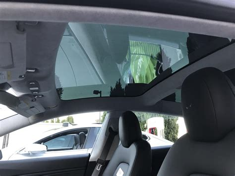 tesla inside roof tesla model 3 spotted glass roof from inside user