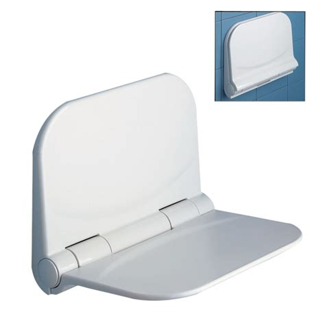 Bathroom Shower Seats Wall Mounted Shop Nameeks White Plastic Wall Mount Shower Seat At Lowes