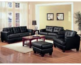 Black Livingroom Furniture by Black Leather Living Room Set Inspiration Decosee