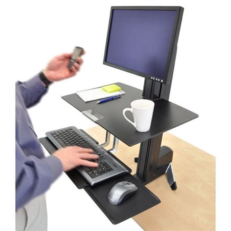 ergotron sit stand desk mount workfit s ergotron 33 342 200 single ld sit stand workstation