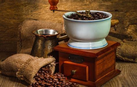 oboi wall coffee bags wood beads machine  grinding coffee kartinki na rabochiy stol