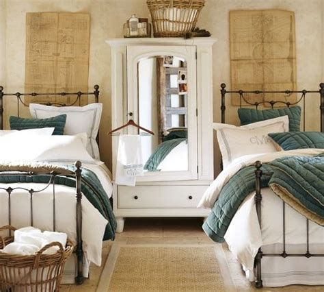 pretty guest bedrooms savannah bed headboard pottery barn this would make