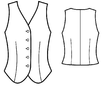 free printable vest pattern easy vest sewing pattern my sewing patterns