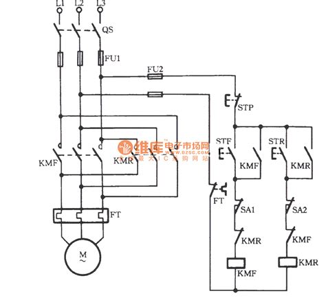 single phase reversing contactor wiring diagram 2 pole