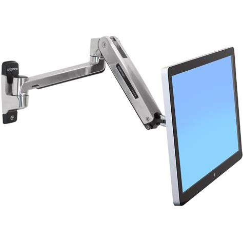 computer monitor wall mount lx sit stand wall monitor arm ergotron 45 383 026