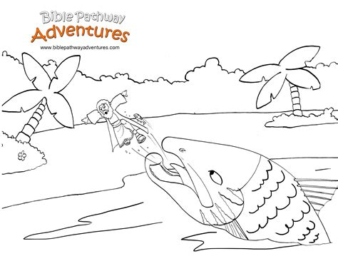 coloring pages jonah and the big fish printable bible coloring page jonah and the big fish