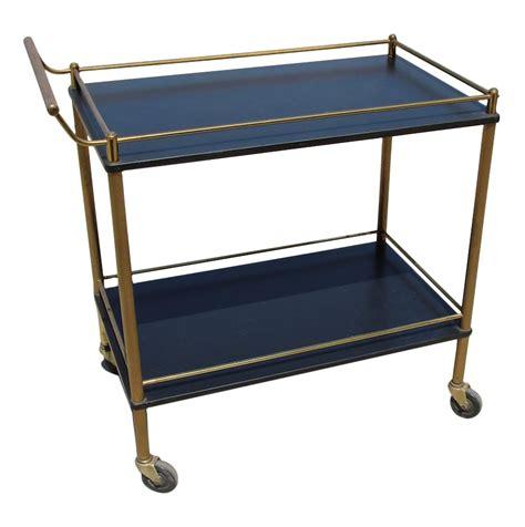 maxwell phillip brass bar cart with black shelves chairish