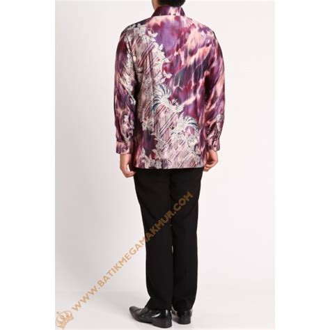 Kemeja Anak Samuel Katun Silk kemeja semi silk polaan ungu batik mega makmur toko