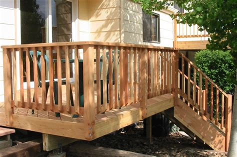 Wood Deck Railing Ideas Ideas Doherty House Durability Patio Railings Designs