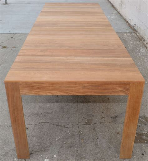 expandable patio table custom outdoor dining table in teak expandable for sale