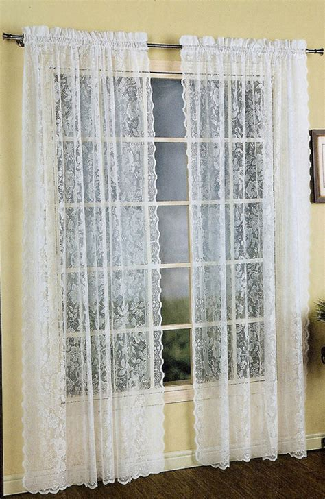 white lace curtain panels windsor lace curtain white united view all curtains