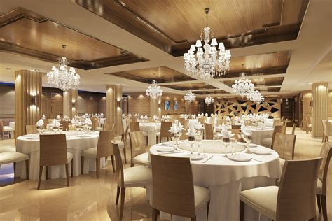 Famous Lighting Designers classy restaurant with posh chandeliers 3d model max