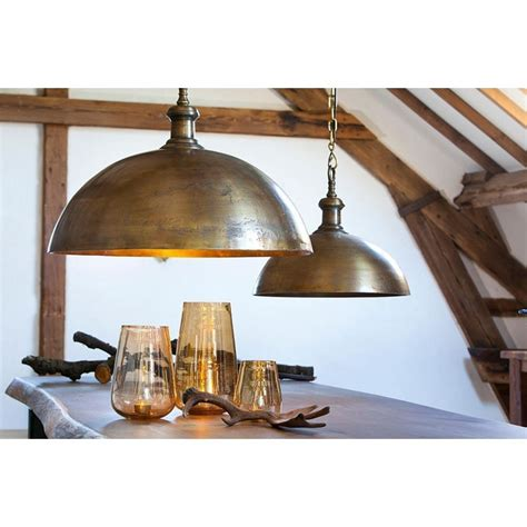Industrial Dome Pendant Light Industrial Style Dome Pendant Light In Brass Finish 27 5w X 23 499 Destination Lighting