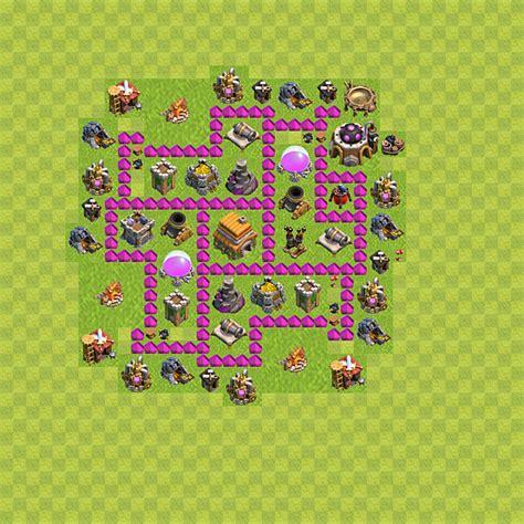 coc layout rh 6 die base f 252 r troph 228 en verteidigung in clash of clans