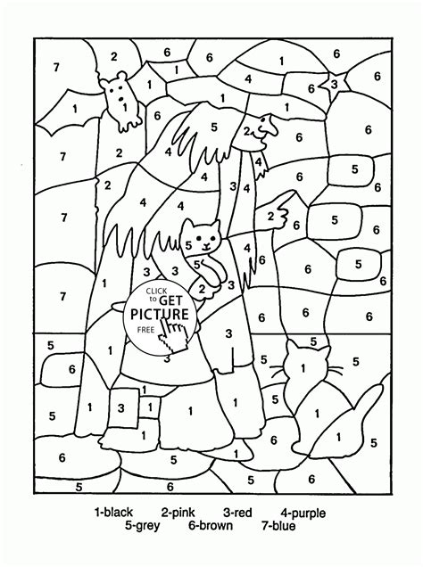educational halloween coloring pages color by number halloween coloring page for kids
