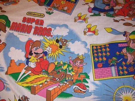zelda bed sheets rare vintage 1988 nintendo mario zelda twin flat bed sheet