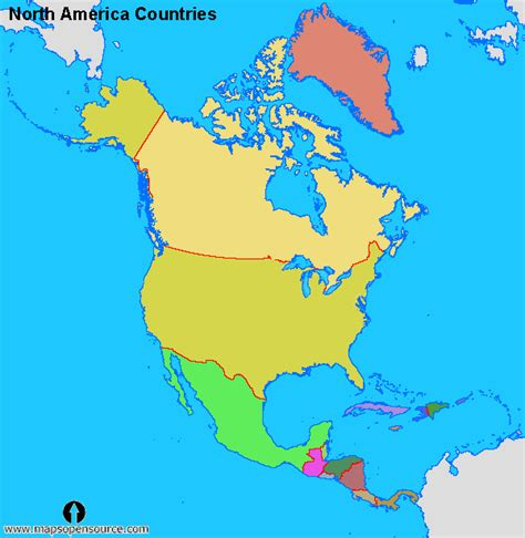 america map with countries free america maps maps of america maps of