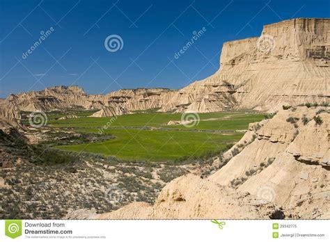 Desert House Plans by Bardenas Reales Navarra Spain Royalty Free Stock Photo