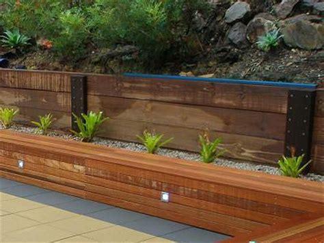 Wooden Garden Walls Retaining Walls C K Farrell Contractors Auckland