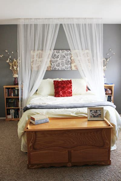 canopy bed curtains how to make a canopy bed without buying a new bed better housekeeper
