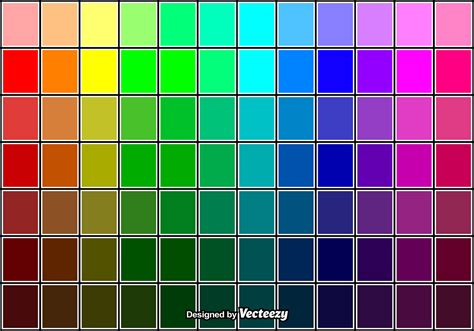 cool vector color swatches   vector art