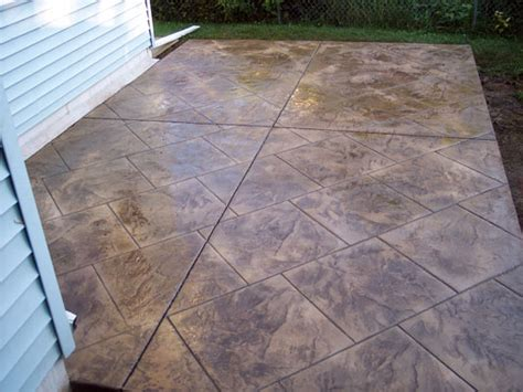 How To Clean Colored Concrete Patio by Decorative Concrete Colored Sted Concrete Textured