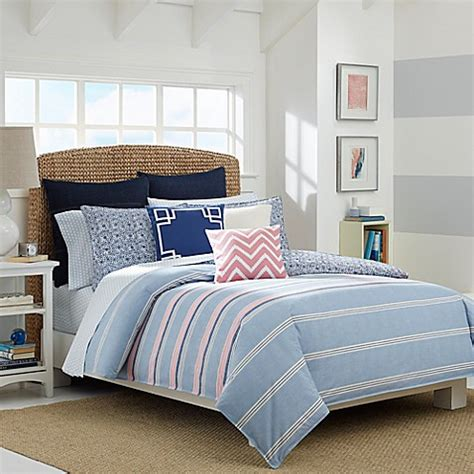 light blue bed set nautica 174 destin reversible comforter set in light blue