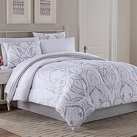 8 King Comforter Set Silver Kara 8 Comforter Set In Grey Silver Bed Bath Beyond