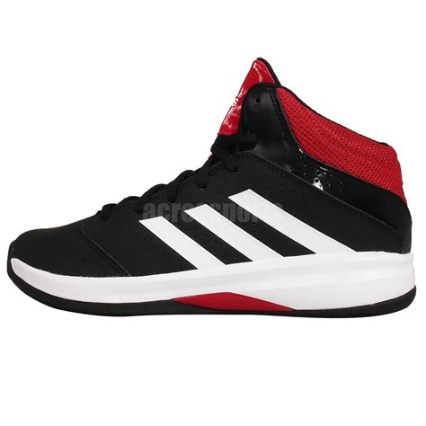 youth basketball sneakers adidas isolation 2 k black white youth boys