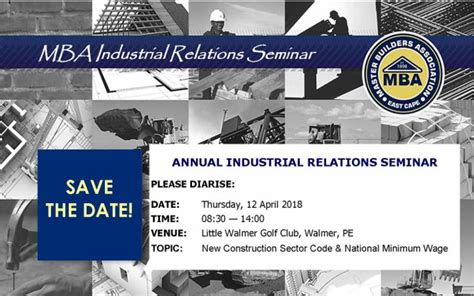 Mba Relations Usa by Save The Date 12 April Mba Industrial Relations