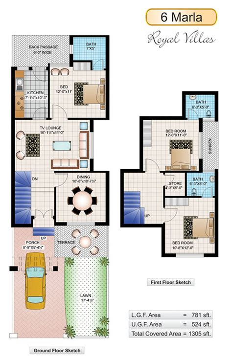 home design 6 6 marla house plans civil engineers pk