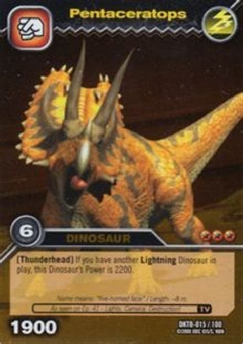 game card pentaceratops dinosaur king tcg series  colossal team battle coldki sctb en
