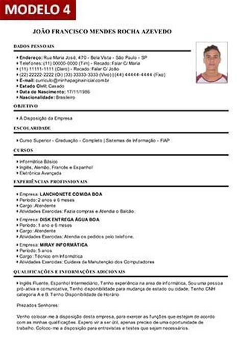 Modelo Curriculum Vitae Word Con Foto curriculo vitae