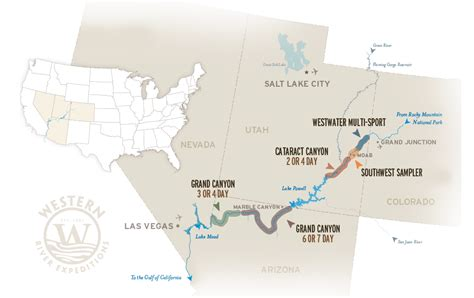 where does the colorado river start and end colorado river rafting trips