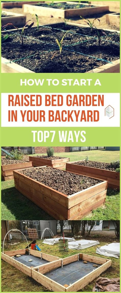 how to start a garden in your backyard how to start a raised bed garden in your backyard