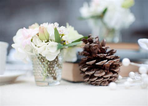 winter bridal shower centerpieces rustic winter wedding reception tabletop centerpiece