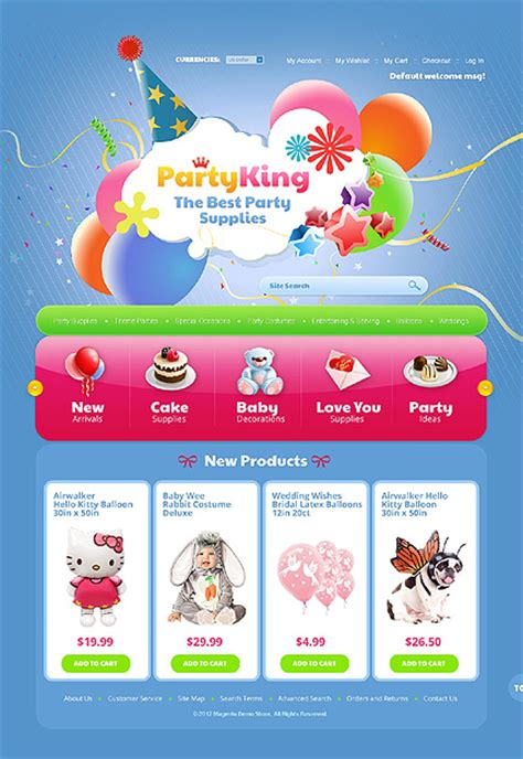 template 38173 party king magento theme