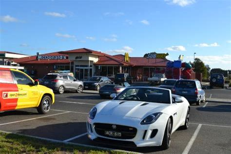 Last stop at Macca's for a quick bite with the Jag