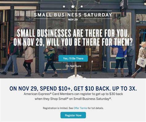 Amex Gift Card Register - up to three 10 statement credits when you register for amex small business saturday