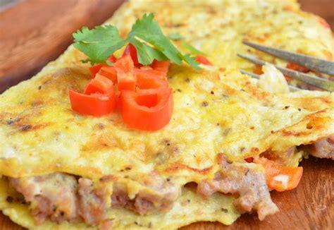 cara membuat omelet telur untuk diet cara membuat resep omelet telur keju sayuran dan kornet