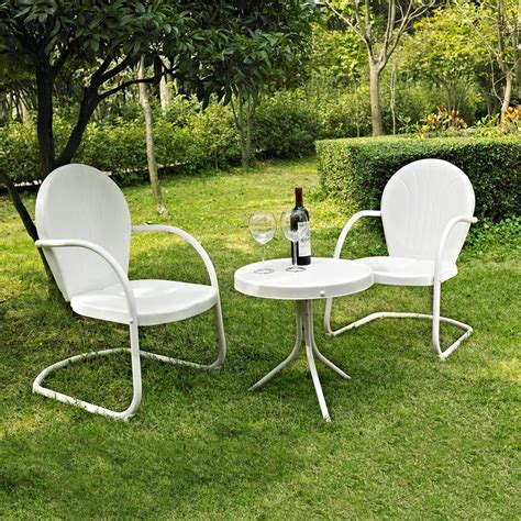 Crosley Patio Furniture by Shop Crosley Furniture Griffith 3 Steel Patio Conversation Set At Lowes