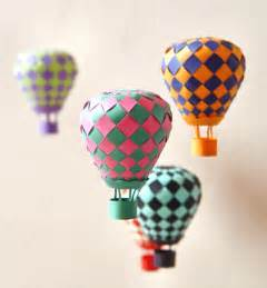 Make A Paper Air Balloon - make woven paper balls and more how about orange