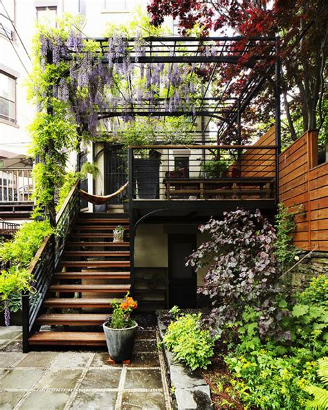 backyard brooklyn amazing over the deck with extra gardening space house design and decor