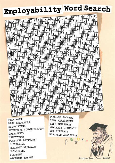 printable word search graduation xtraresources employability4socialsciences
